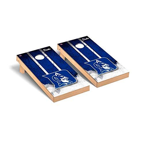 Victory Tailgate Regulation Collegiate NCAA Vintage Series Cornhole Board Set - 2 Boards, 8 Bags - Duke Blue Devils