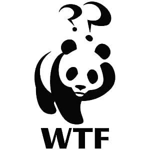 Panda Wtf Cute Logo Funny Decal Vinyl Car Wall Laptop