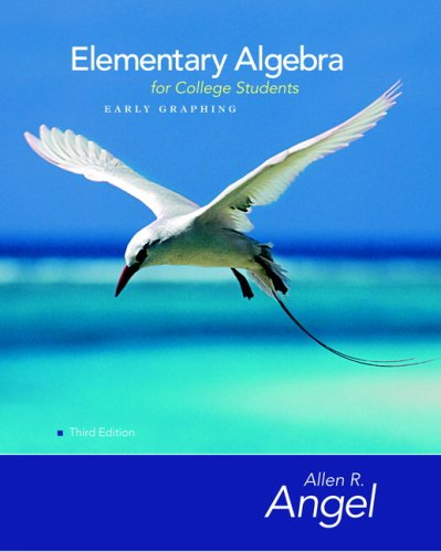 Elementary Algebra Early Graphing for College Students