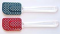 2pcs 10 Inch Premium Silicone Spatula Set - Colorful Fun
