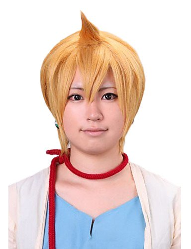 [Wigs have an attractive convenience fashion Angelaicos Men Magi The Labyrinth Of Magic Alibaba Cute Boy Short Layered Blonde Halloween Costume Party Cosplay] (Halloween Costumes Elvira)