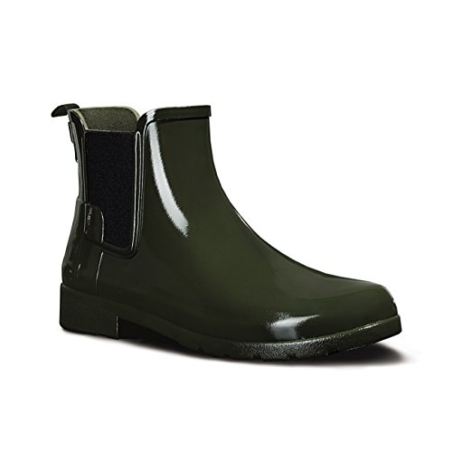Hunter Original Refined Gloss Chelsea Ladies Boot verde oliva oscuro
