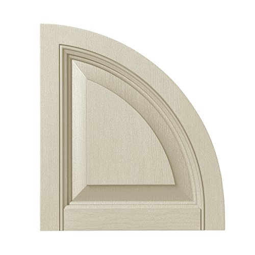 (Ply Gem Shutters and Accents ARCH15RP CRM Raised Panel Arch Top, 15