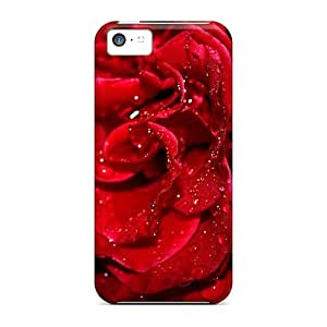 Premium [Msr15230FnoS]fresh Red Rose Cases For Iphone 5c- Eco-friendly Packaging