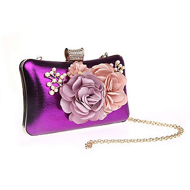KEY Noir Polyester Fuchsia et Rouge Pochettes Cliquet Violet purple clutches Argent SUNNY R6wAdqA