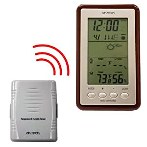 Wireless Weather Station Temperature, Moon Phase, Humidity and Weather Forecast - WH-1170T