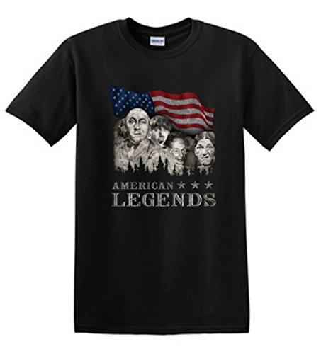 Shirt Patron Three Stooges American Legends Mount Rushmoron Mens T-Shirt 2XL Black