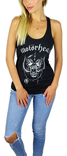 Motorhead Womens Distressed Warpig Tank Top Black (Medium, Black)