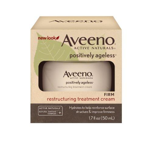 Aveeno Positively Ageless active Naturals Crème Traitement de restructuration, 1.7-Ounce Jar (emballage peuvent varier)