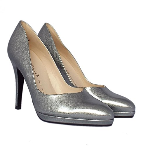 Peter Kaiser Herdi Women's Stiletto Court Shoes in Steel Graffiti STEEL GRAFI 9GgfNT