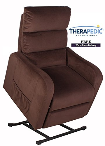 "THERAPEDIC Lift Chair Recliners, The ""Concord"" - Espresso Color - Live Smart Fabric for Stain Resistance - Direct from Therapedic International TRUSTED BRAND NAME (Mart Carolina Furniture)"
