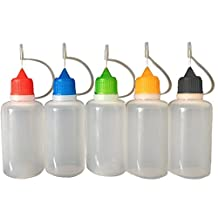 Elisona-20 PCS 15ml Empty Plastic Travel Eye Dropper Essential Oil Liquid Saline Needle Drip Tip Squeeze Dropper Bottle Container
