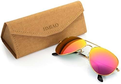 Aviator Sunglasses for Men Women,Flash Mirror Lens UV400 Sunglasses Eyewear