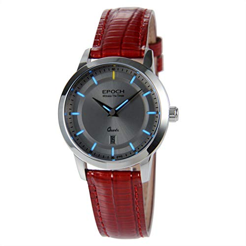 EPOCH 6023L 50m Water Resistant T25 Tritium Luminous Vogue Business Dress Lady Women Quartz Watch Wristwatch (P2)