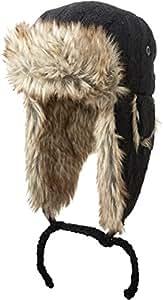 Screamer Soho Trapper Knit Cap, One Size, Black