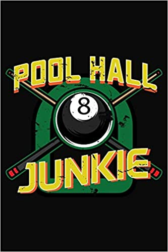 Pool Hall Junkie: Pool Eight Ball Notebook 6x9 Blank Lined Journal ...