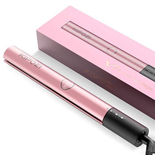 KIPOZI Hair Straightener 2 in 1 Straightener and Curling iron Titanium Flat Iron for Hair with Salon