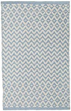 Alfombra Infantil pie de Cama Azul de algodón Natural de 50x80 cm ...