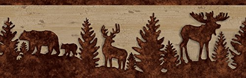 Chesapeake TLL35711B Shawnee Silhouettes Wallpaper Border, ()