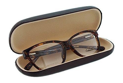 Hard Eyeglass Case For Men Women, Small Glasses Case, Diamond Checkered, Burgundy