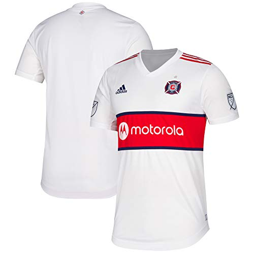 adidas Men's Chicago Fire MLS White 2019 Secondary Authentic Jersey (XL)