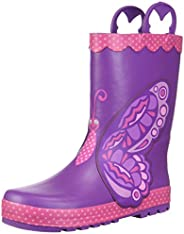 Western Chief Girls Waterproof Printed Rain Boot with Easy Pull on Handles