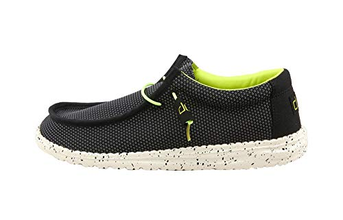 Hey Dude Men's Wally L Sox Funk Black Lemon, Size 12
