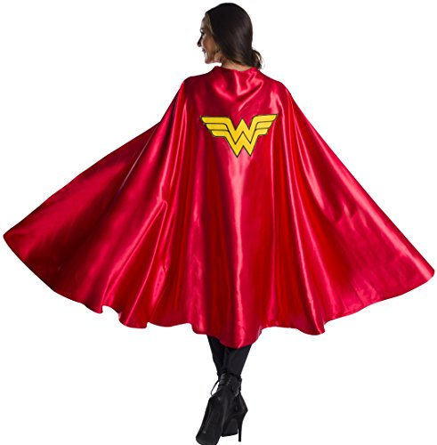Rubie's Women's DC Comics Deluxe Wonder Woman Cape, As Shown, One Size
