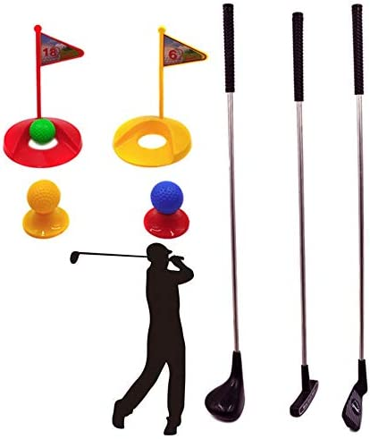 子供ゴルフセット ゴルフおもちゃ キッズゴルフメタルキュー親子屋内および屋外玩具スポーツスーツ ゲームレジャーファミリースポーツ (Color : Multi-colored, Size : Free size)