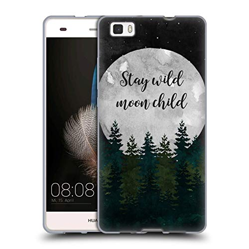 (Official KookiePixel Stay Wild Typography Soft Gel Case Compatible for Huawei P8lite / ALE-L21)
