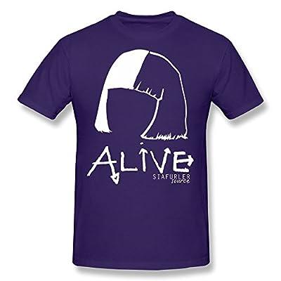 SIANDA Men's Alive Sia T-Shirts Black