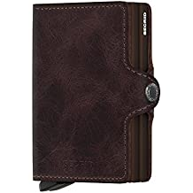 Secrid Twin Wallet Genuine Leather with RFID Protecton, Holds up to 16 Cards