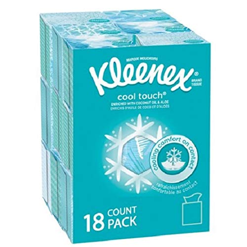 Kleenex Cool Touch Tissues, Upright - 50 Count -18 Pack - by Kleenex