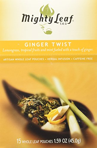 Mighty Leaf Tea Ginger Twist, Whole Leaf Pouches, 1.59 Ounces, 15 Count