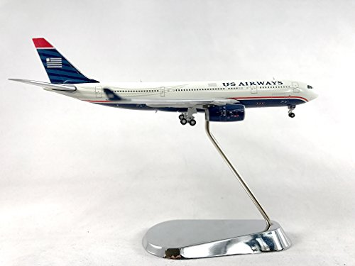 GeminiJets US Airways Airbus A330-200 Diecast Airplane Model N280AY With Chrome Stand 1:400 Scale Part# GJUSA1125