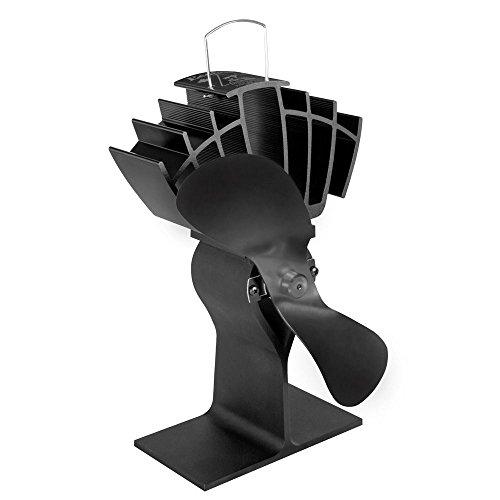 Caframo Ecofan UltrAir Heat Powered Stove Fan - Black Blade by Caframo