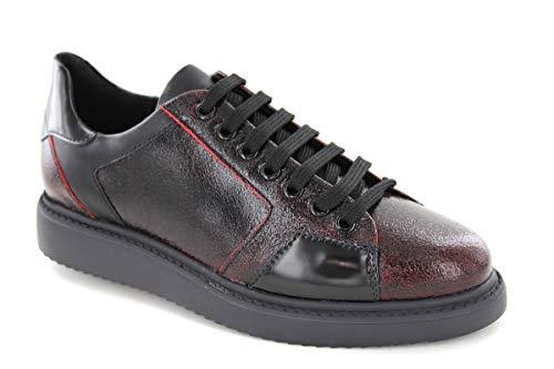Femme Basses C0100 Rouge D dk Red Sneakers Thymar E Geox black ZqIwX6q