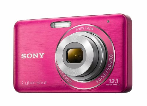 (Sony DSC-W310 12.1MP Digital Camera with 4x Wide Angle Zoom with Digital Steady Shot Image Stabilization and 2.7 inch LCD (Pink))
