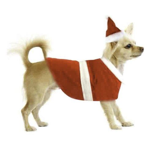 [Imperial Home Santa Christmas Costume for Dog, Medium] (Dog Outfits For Christmas)