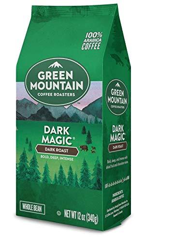 Green Mountain Coffee Roasters Dark Magic 12 ounce bag, Pack of 4 (Whole Bean)