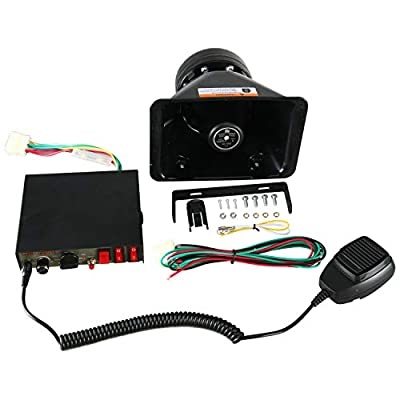FreeTec Amplifier Police Siren 8 Tones Emergency Loudspeaker