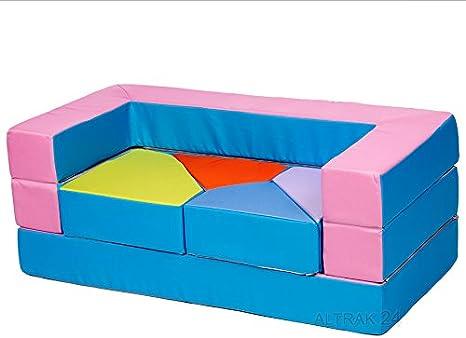Spielsofa Kindersessel Spieltisch Spielzeug aus Schaumstoff 4-In-1 Kindersofa