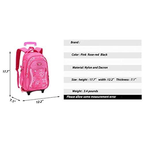 Meetbelify Kids Rolling Backpacks Luggage Wheels Trolley School Bags For  Girls well-wreapped 54f5127a38126