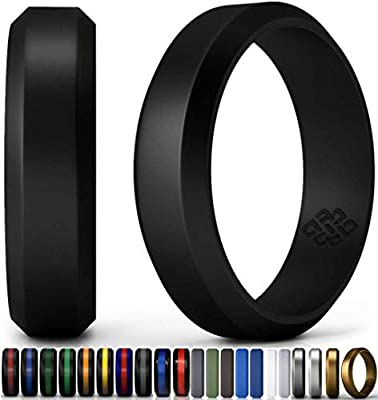 Knot Theory Camo Silicone Wedding Ring Band for Men Women: Superior Non Bulky Rubber Rings - Premium Quality, Style, Safety, Comfort - Ideal Bands for Gym, Safe for Work, Hunting, Sports, and Travels by Knot Theory