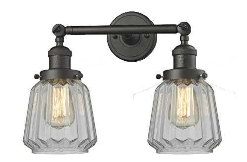 (Innovations Lighting Innovations 208-OB-G142 Two Light Bathroom Fixture, Oil Rubbed Bronze )