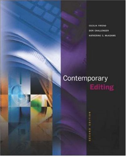 Contemporary Editing with Free Student CD-ROM