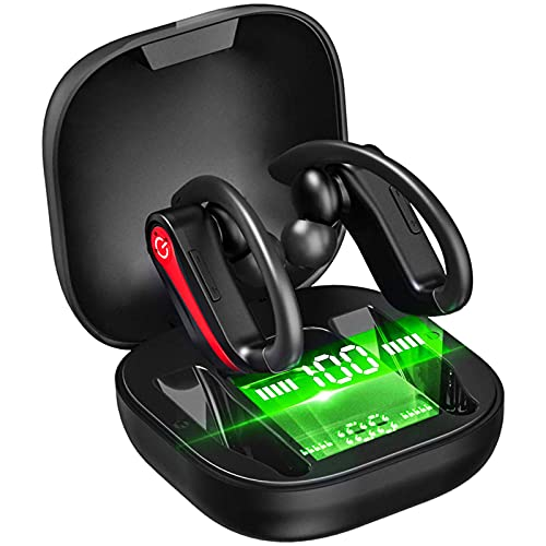 Wireless Earbuds Sport Bluetooth 5.1 Headphones Bluetooth Earbuds with Noise Cancelling Mic, Earphones in Ear Deep Bass…