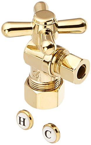 Jones Stephens S4203PB Angle Cross Handle, Polished Brass