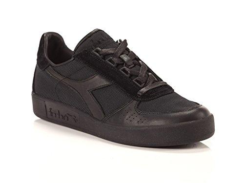 Diadora - Zapatillas de Piel para hombre Negro negro