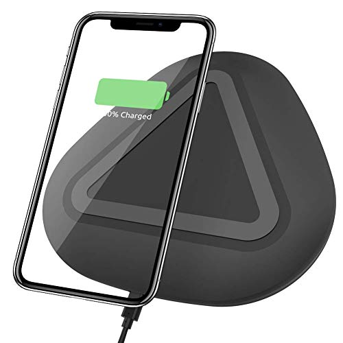 Vidgoo Qi Certified Fast Charging Pad Wireless Charging Pad Compatible with Phone Xs MAX/XR/XS/X/8/8 Plus, Galaxy Note 9/S9/S9 Plus/Note 8/S8-Black